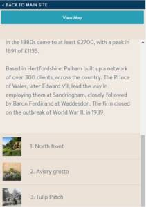 Pulham trail mobile view list