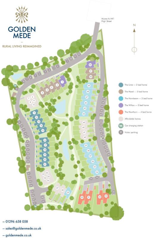 Golden Mede site plan