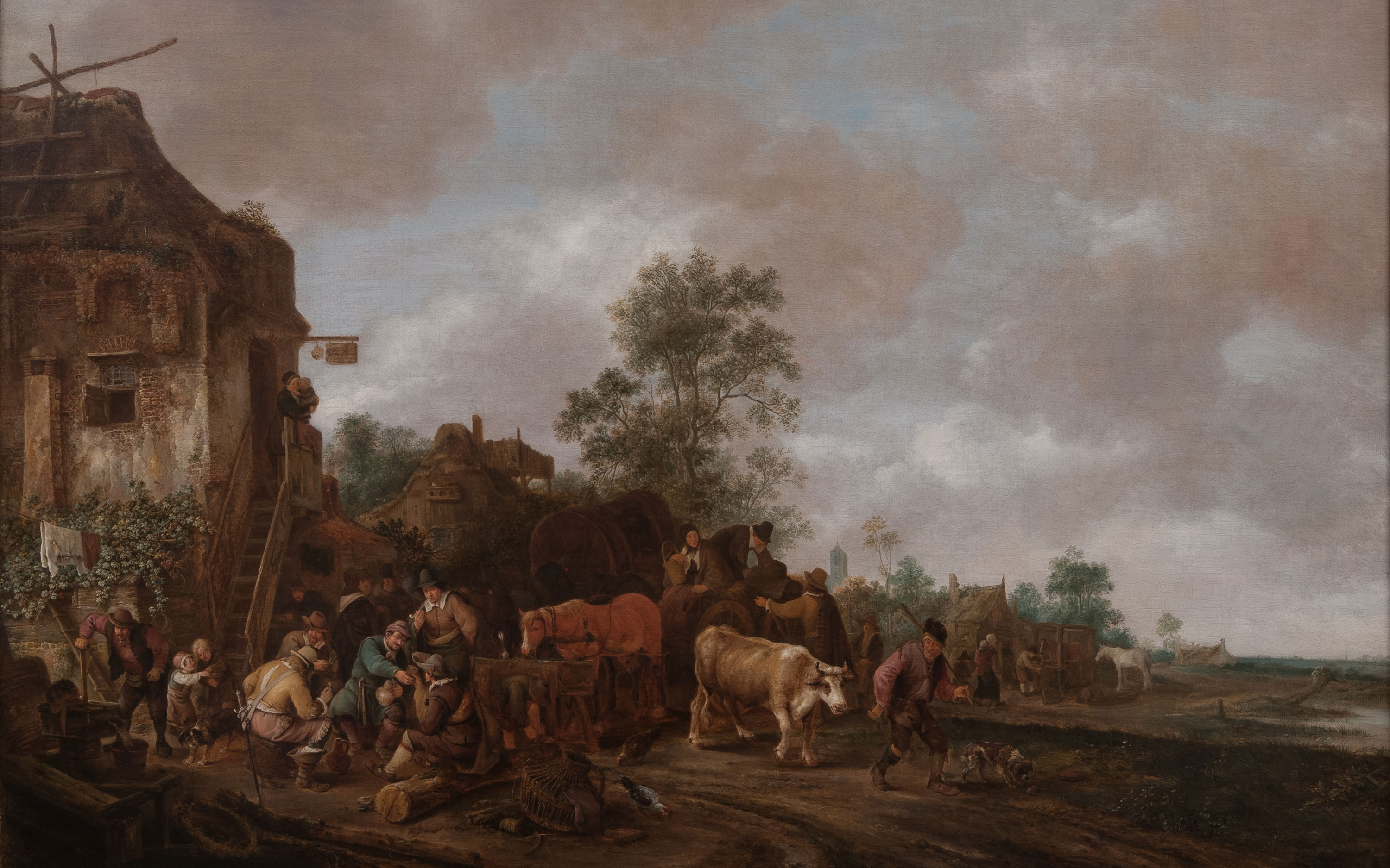 Isack van Ostade, Figures outside an inn; 1647; Waddesdon (National Trust) Accepted under the Cultural Gifts Scheme by HM Government and allocated to the National Trust, 2016; acc. no. 259.