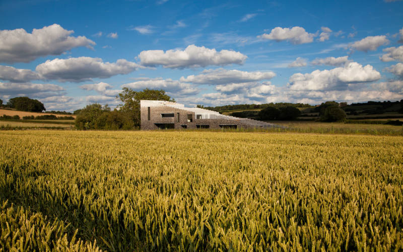 Flint House - a view from a cornfield
