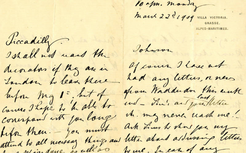 Waddesdon letters: war and weather