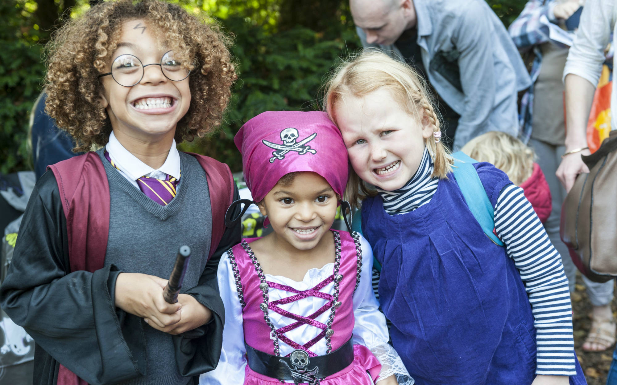 Children in fancy dress for Halloween at Waddesdon