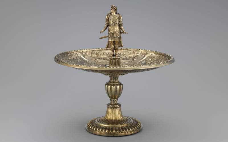 Silver standing cup with figure of Augustus