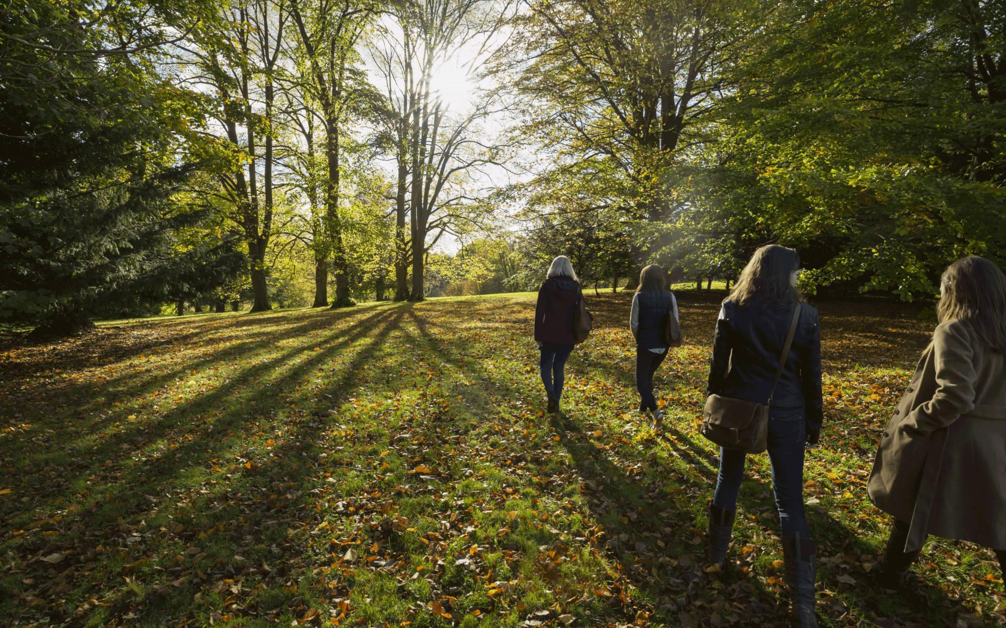 Women walking at Waddesdon