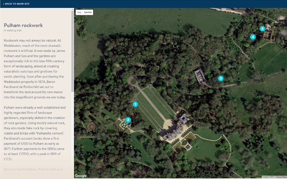 Pulham Rockwork interactive map