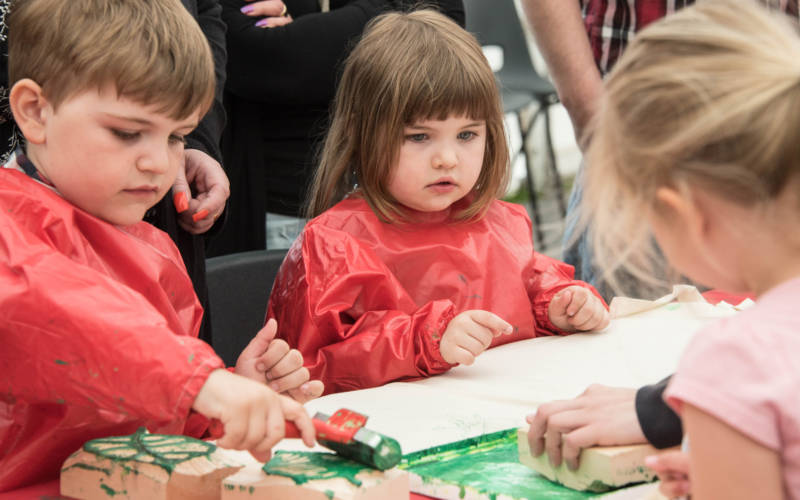 Children painting at Feast Festival