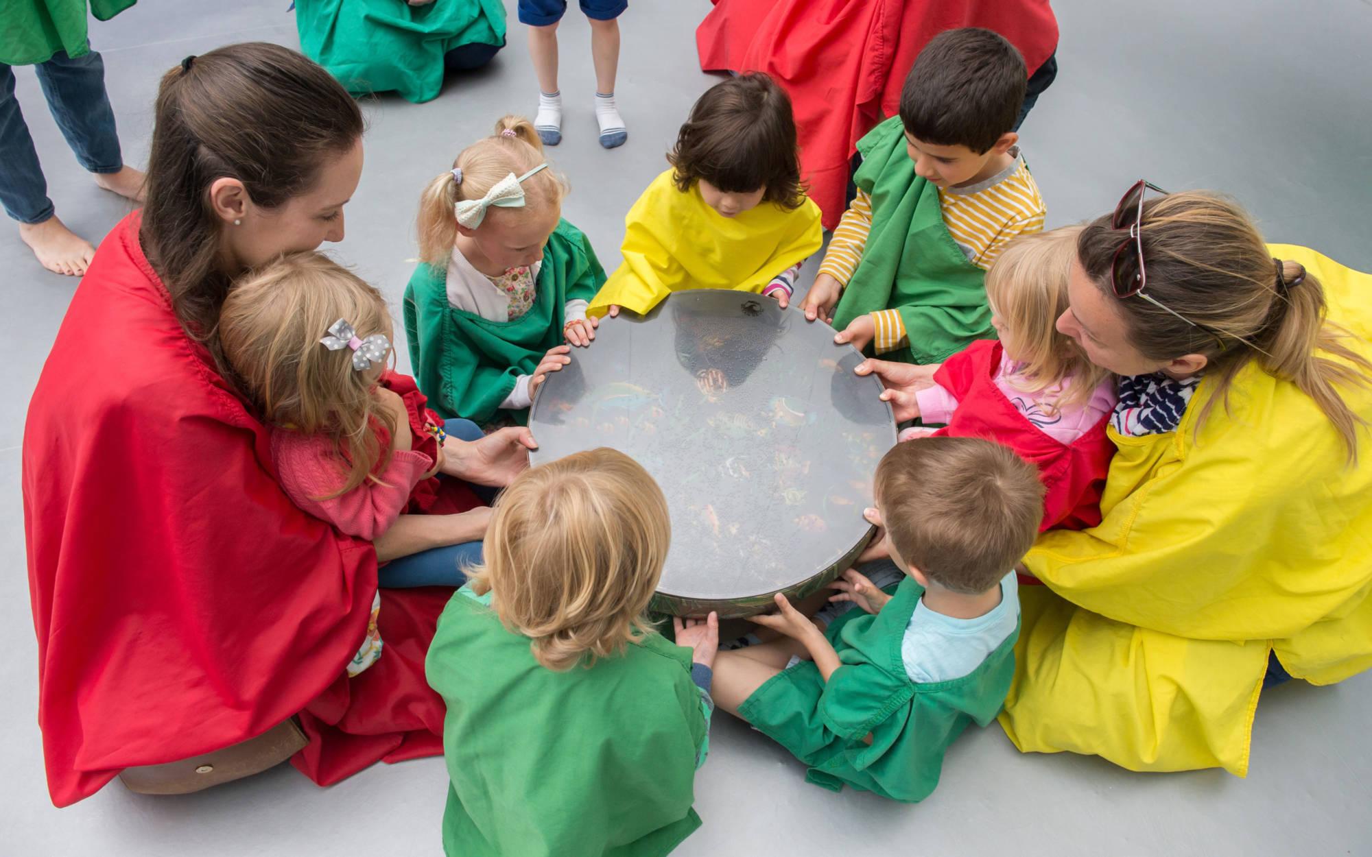 Children enjoying our colourscape event