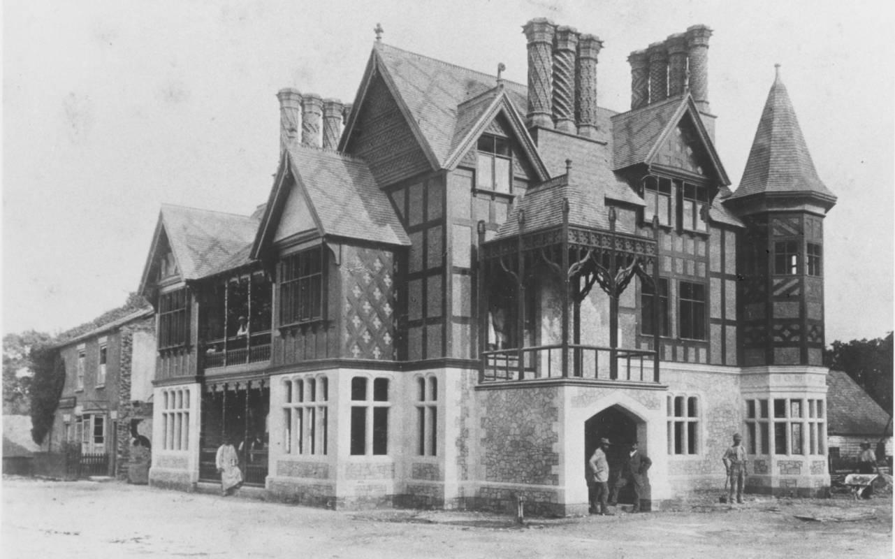 The Five Arrows Hotel in c.1887