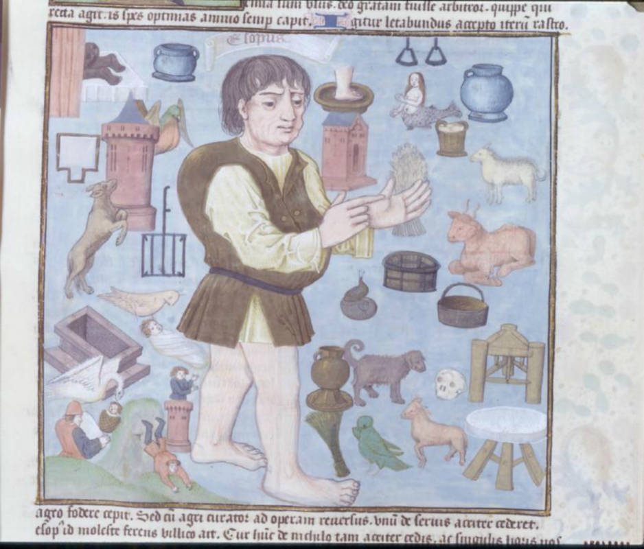 Illuminated manuscript of The Life and Fables of Aesop