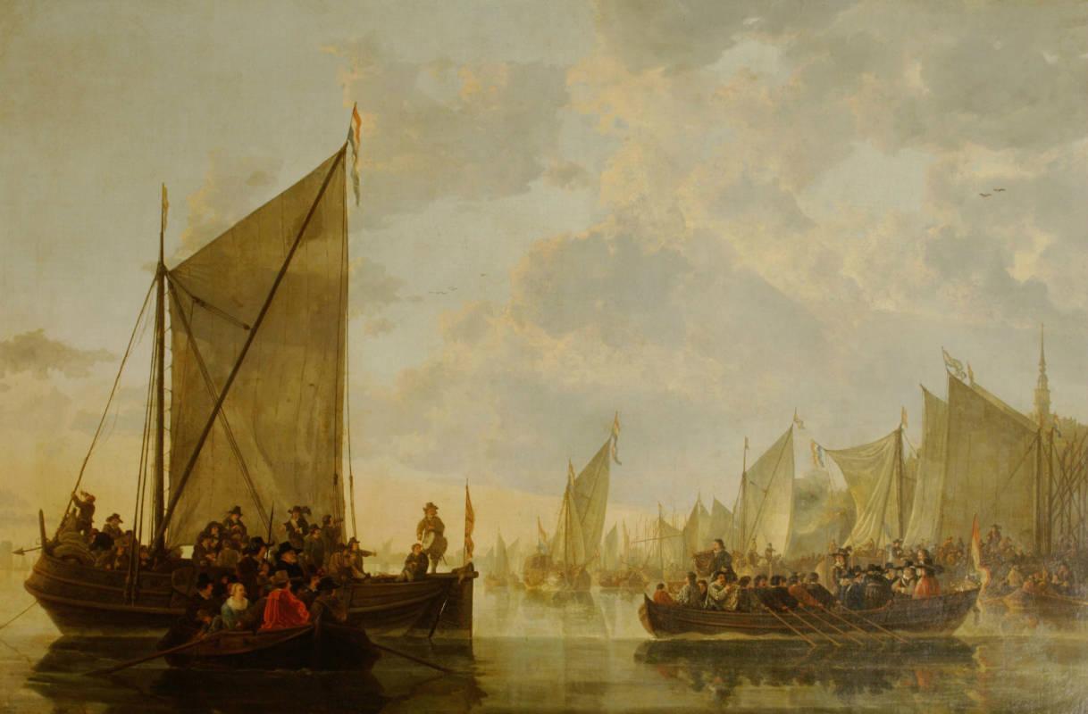 Aelbert Cuyp, A Landing Party on the Maas at Dordrecht