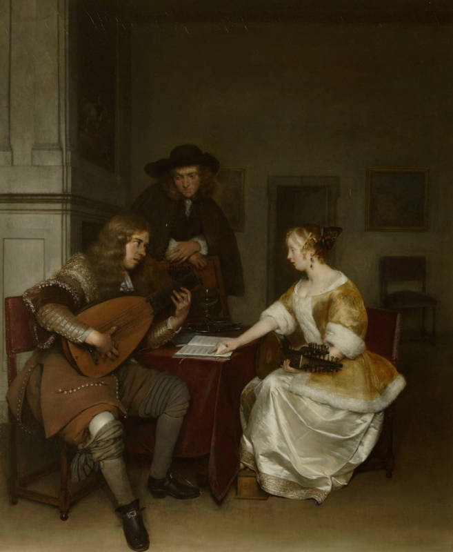 Gerard Ter Borch, The Duet, 1675; oil on canvas