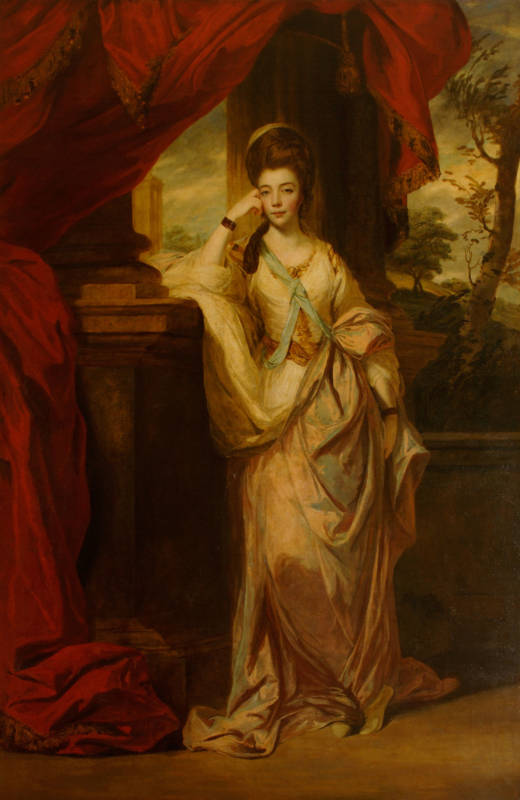 This painting (1772-3) helped fashion the public image of the Duchess of Cumberland, the young widow who eloped with George III's youngest brother, Frederick Duke of Cumberland