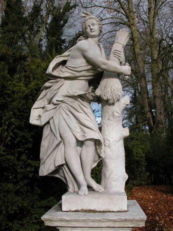 Sculpture of Ceres in the garden