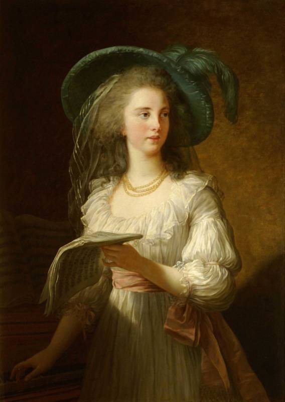 Portrait of Martine-Gabrielle-Yoland de Polastron, The duchesse de Polignac