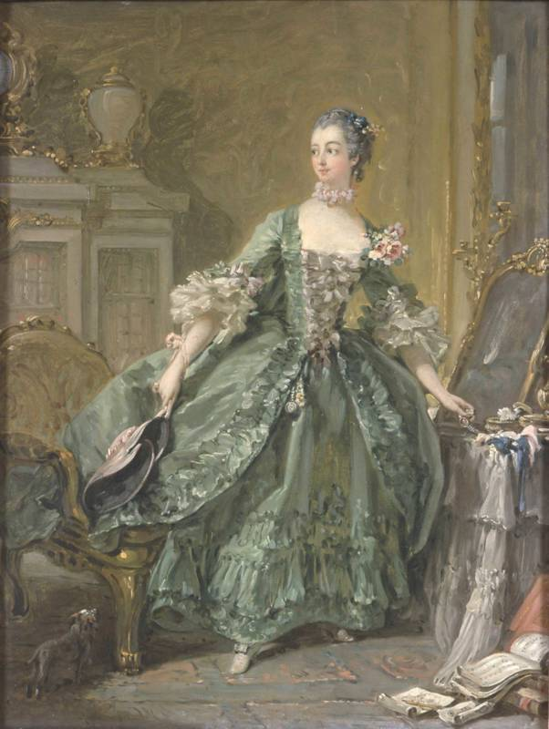 Sketch for a Portrait of Madame de Pompadour (1721 - 1764)