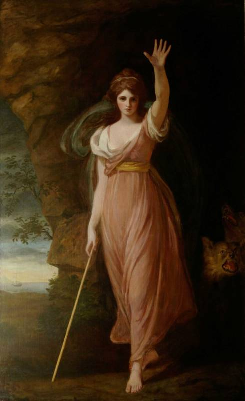 Emma Hart, Lady Hamilton (c 1765-1815), as Circe by George Romney