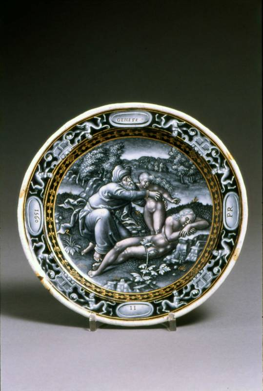 Plate: the Creation of Eve by Pierre Reymond