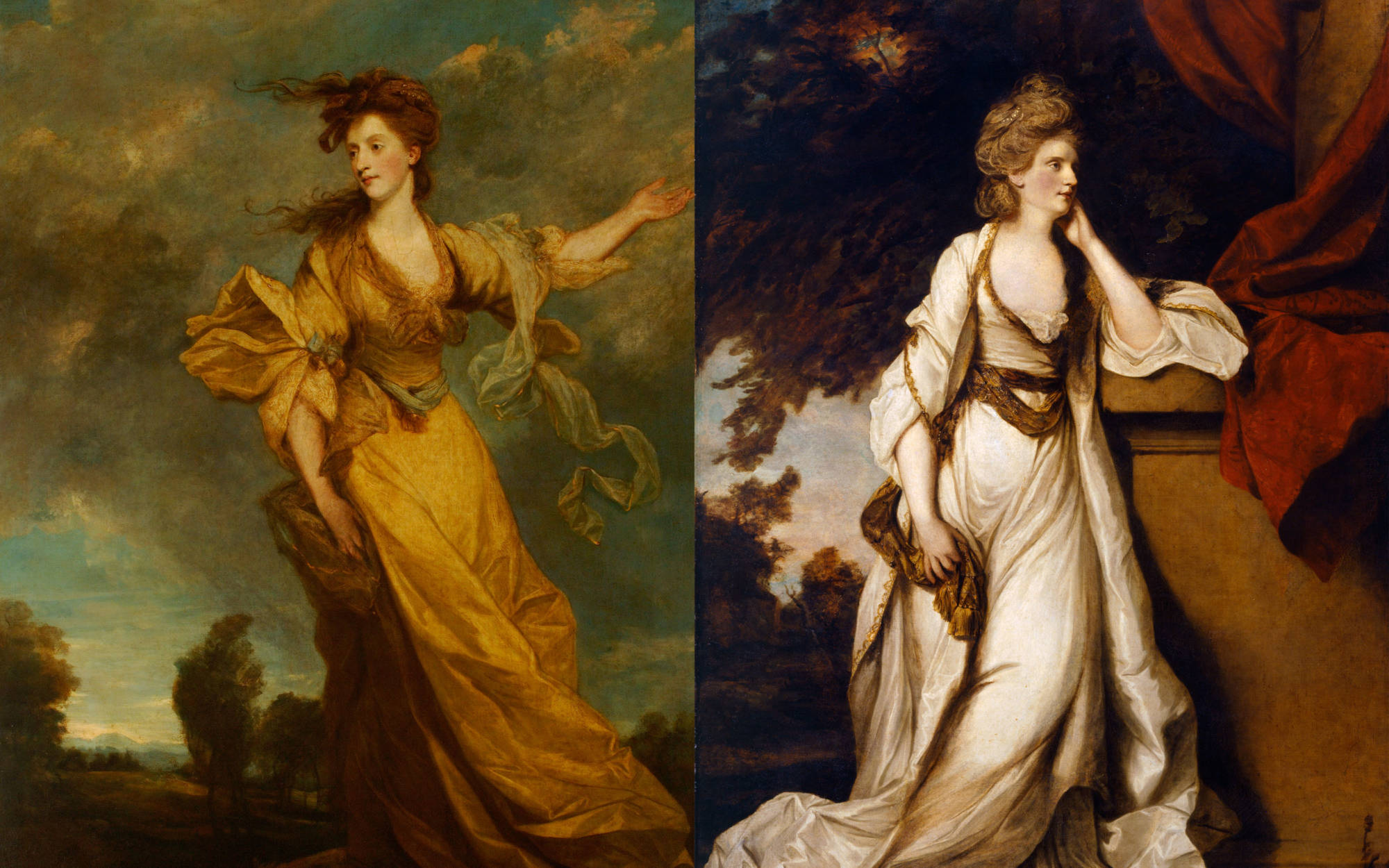 Lady John Halliday (1778-1779) and Lady Louisa Manners (1779): The two paintings formed a contrasting pair
