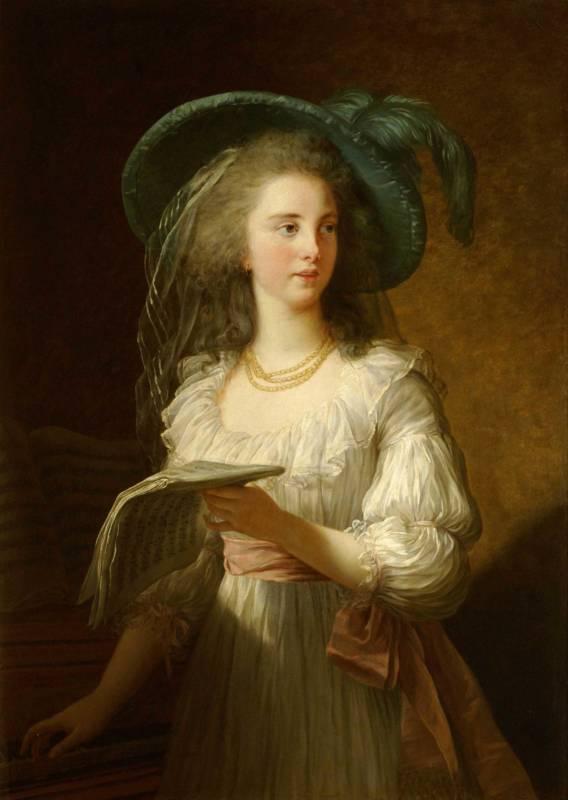 Portrait of Martine-Gabrielle-Yoland de Polastron, The duchesse de Polignac