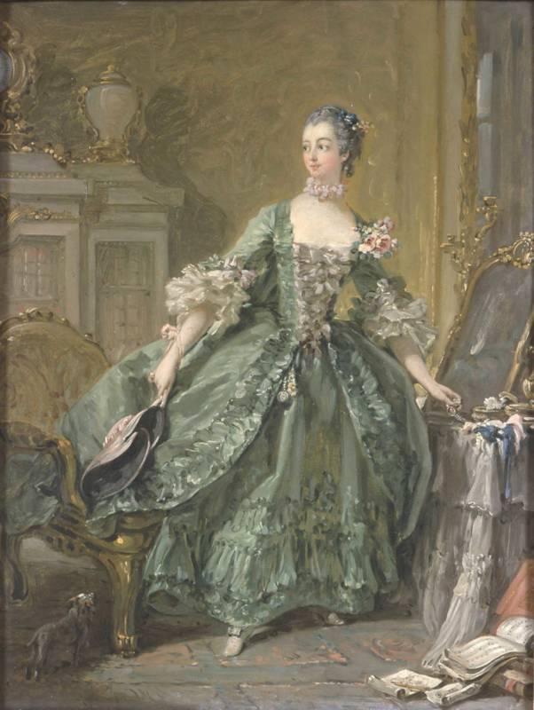 Sketch for a Portrait of Madame de Pompadour (1721 - 1764)