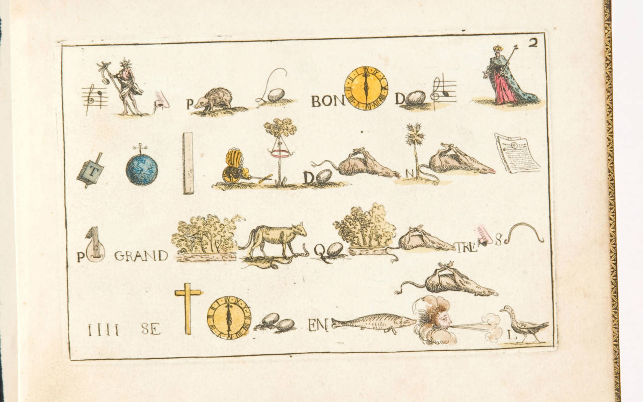 Rebus, 1716, with illustrations by Jean-Baptiste Oudry