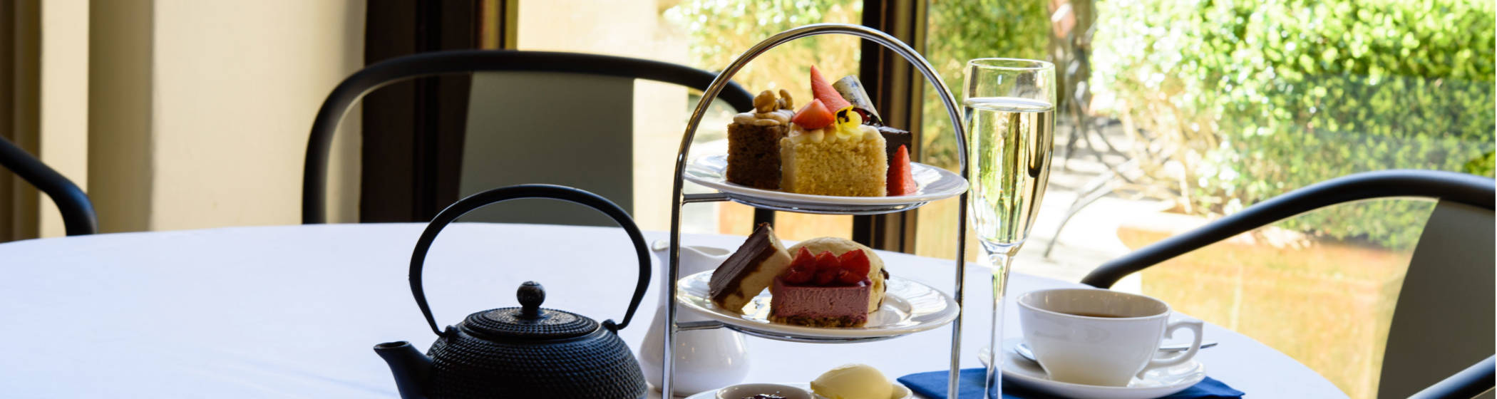 Dairy free afternoon tea in the Manor Restaurant