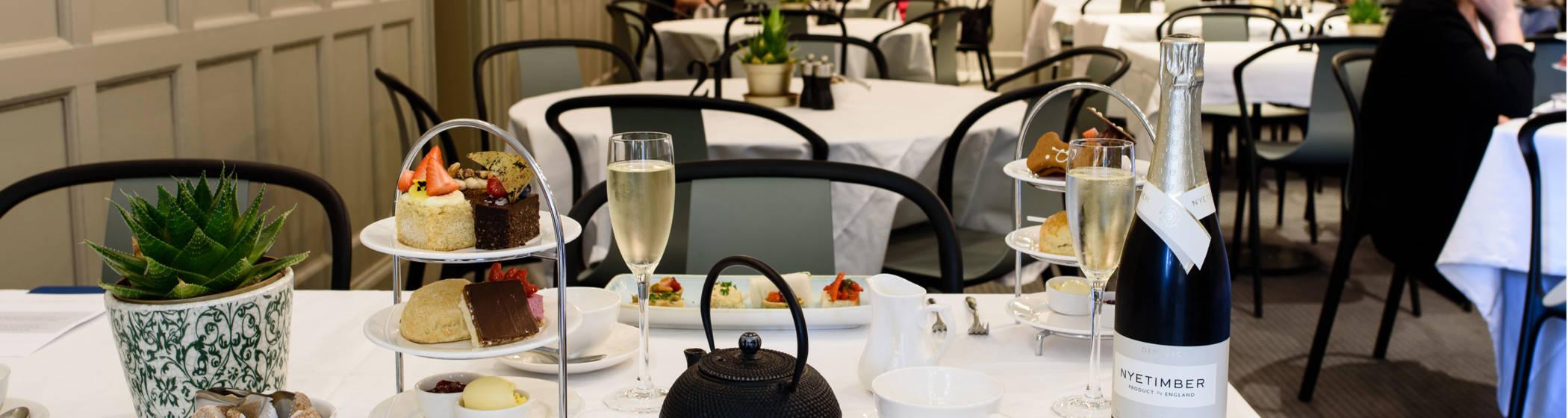 Vegan afternoon tea in the manor restaurant