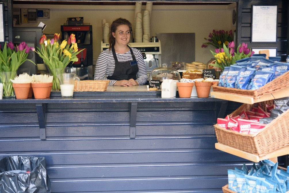 Fix your coffee cravings in eco-friendly style – why not try our food to go range from our outside coffee cart?