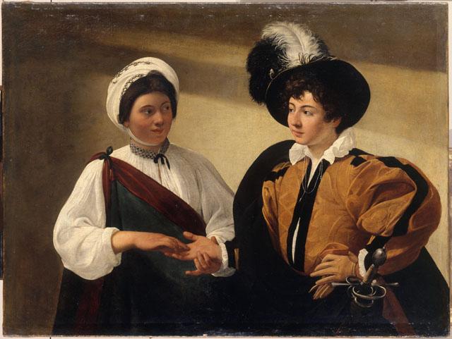 Caravaggio's 'The Fortune Teller' (c. 1595-1598) ©RMN-Grand Palais (musée du Louvre) / Jean-Gilles Berizzi