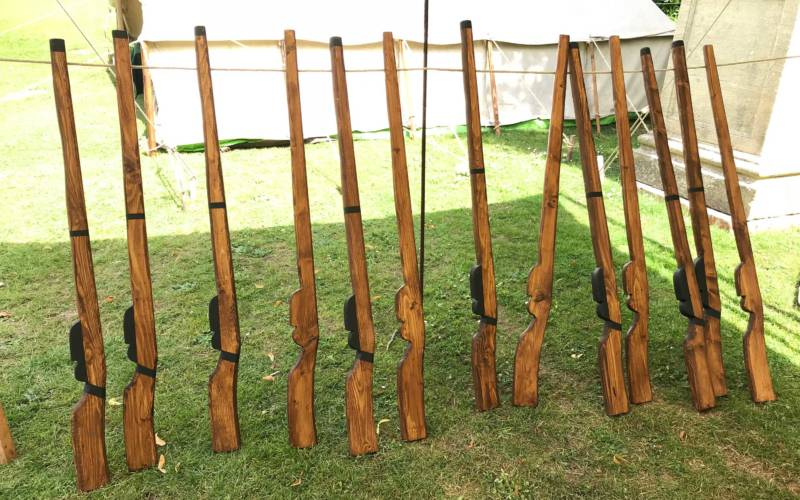 Wooden guns at Living History Week