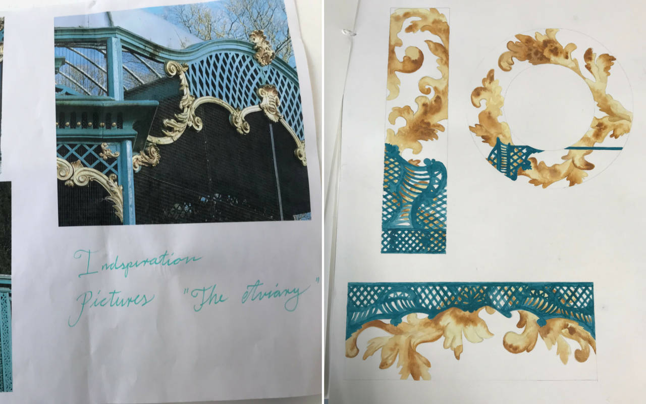 Anne Lykke's inspiration images and sketches for entyr in RCA competition