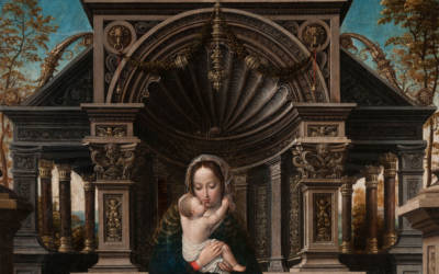 Bernaert van Orley, The Madonna and Child Enthroned, c. 1519