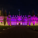 Waddesdon manor illuminated at christmas
