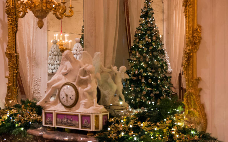 White-Drawing-Room-Christmas-Carnival-decorated-House-2018-©-National-Trust-Waddesdon-Manor.-Photo-Hugh-Mothersole