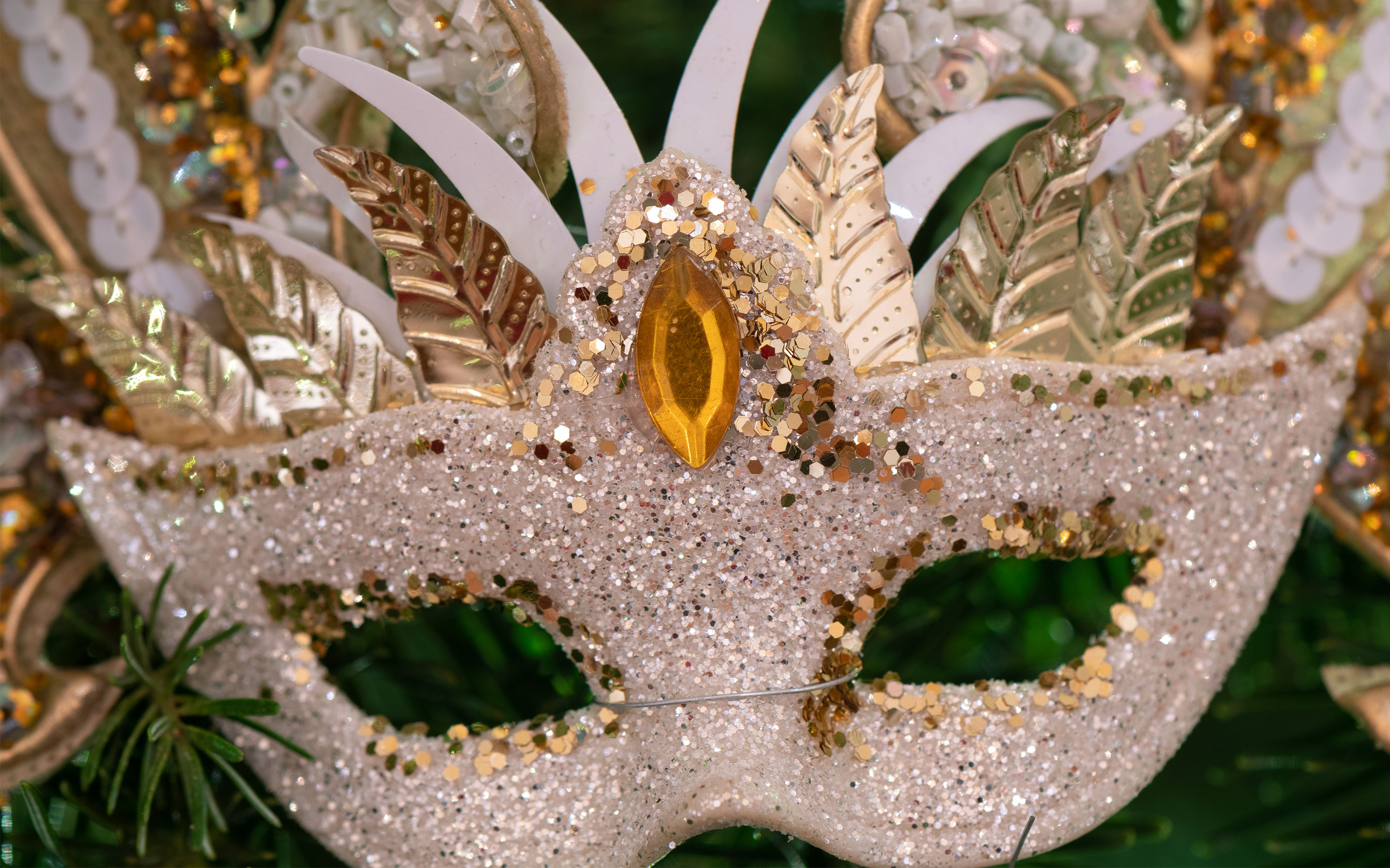 Close up of christmas carnival mask