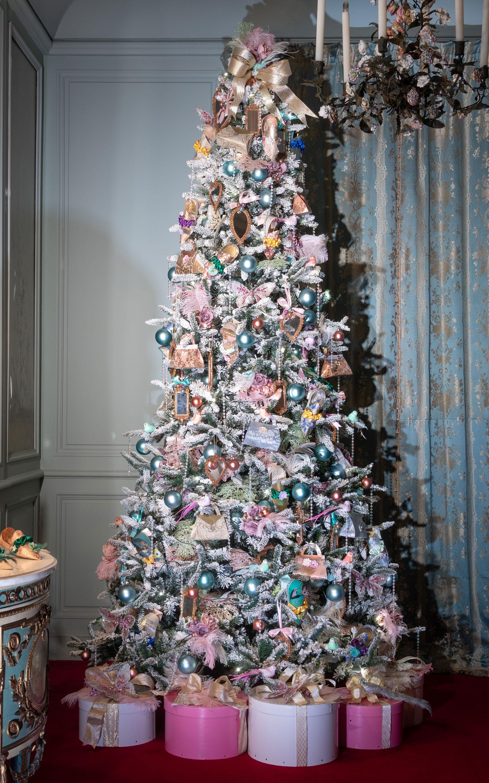 Blue boudior christmas tree