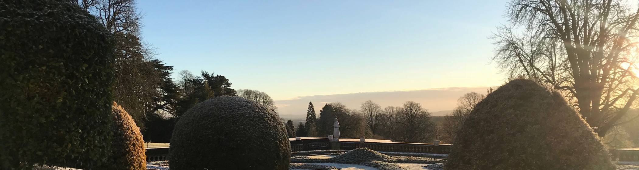 Parterre on a frosty morning