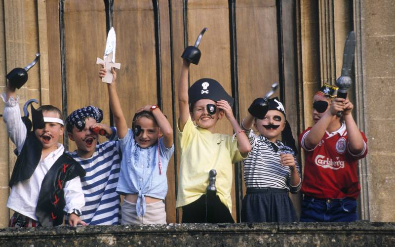 Children dressed up as pirates