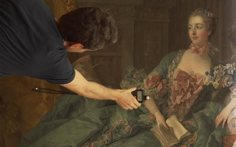 Madame de Pompadour painting