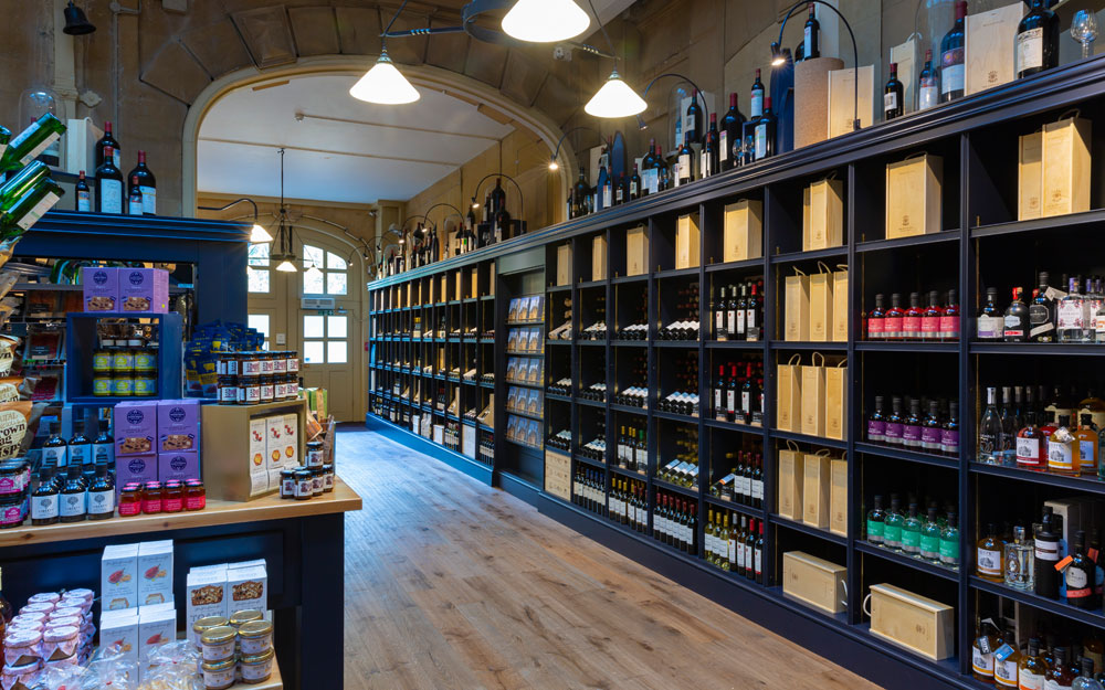 Wine shop interior