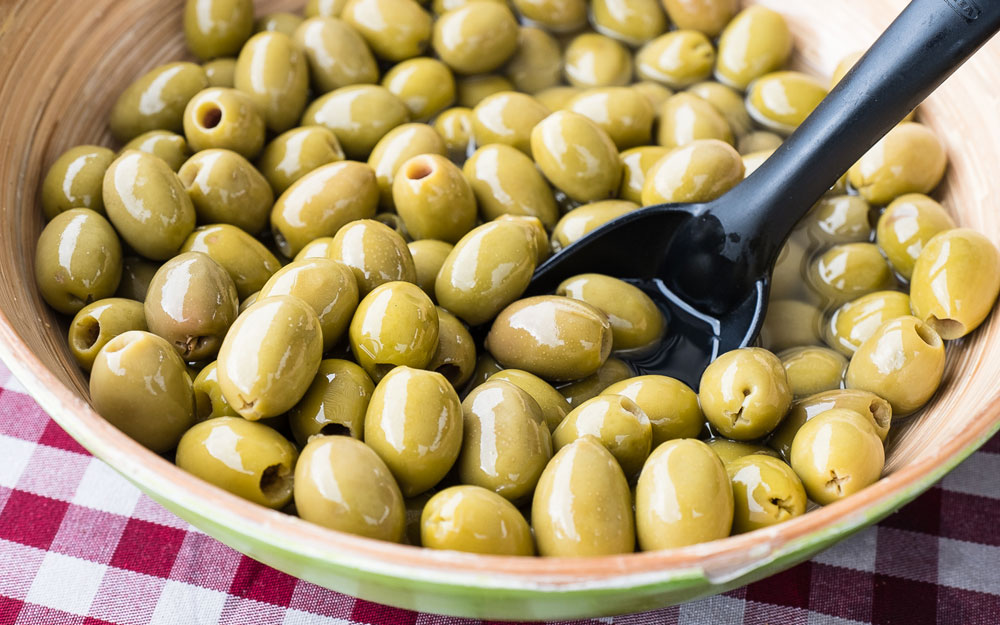 Artisan food market fresh olives