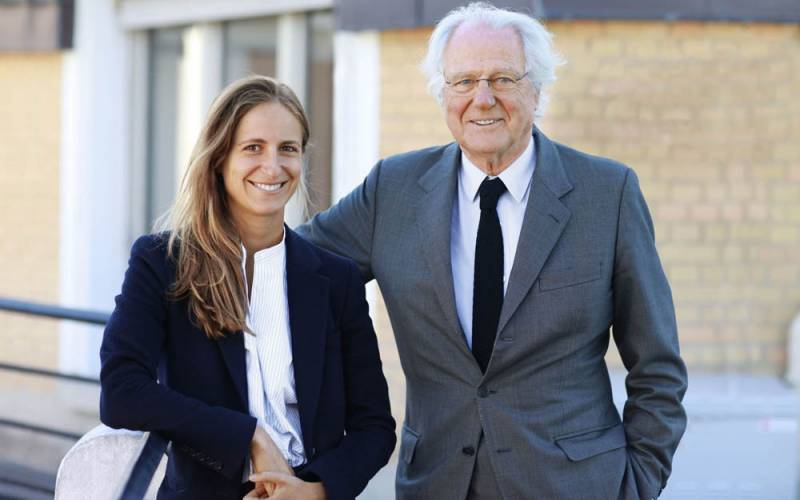 Baron Rothschild and daughter