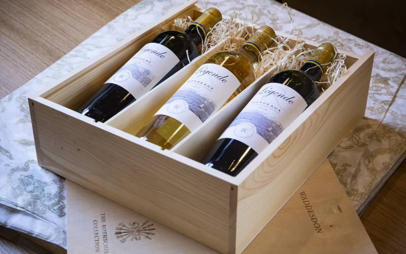 Boxed red and white wines