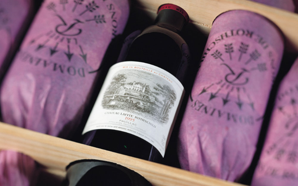 Bottle of Chateau Lafite wine