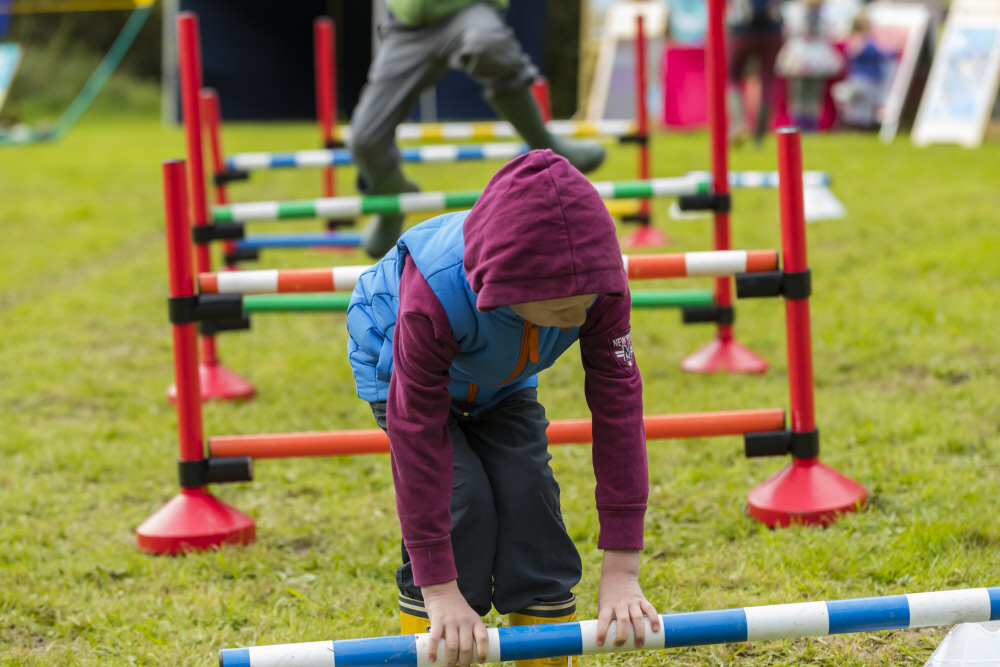 Child taking part in sports activity