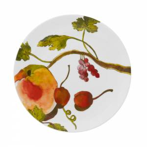 Side plate with fruits and flora design
