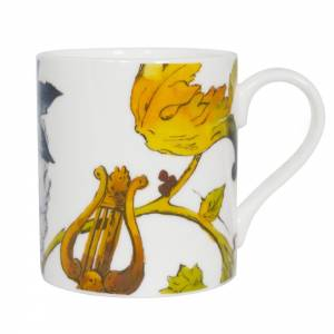 Mug with fruits and flora design