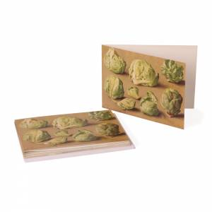 Notecards with a brussel sprout design by Eliot Hodgkin