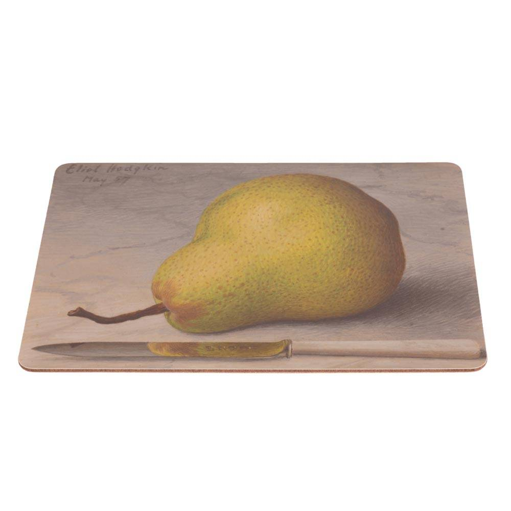 Placemat with a pear design by Eliot Hodgkin