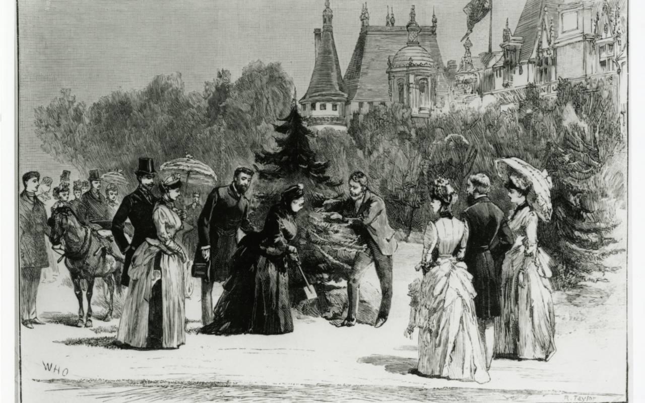 Queen Victoria planting a tree